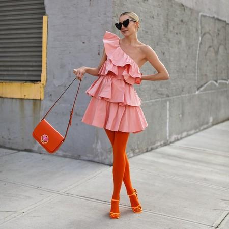 Combinar Vestido Rosa Zapato Bolso 04