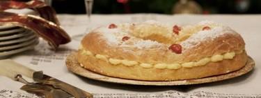 Roscón de Reyes relleno de crema pastelera, receta de Navidad