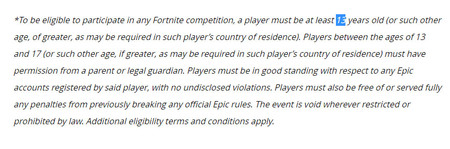 Fortnite Rules