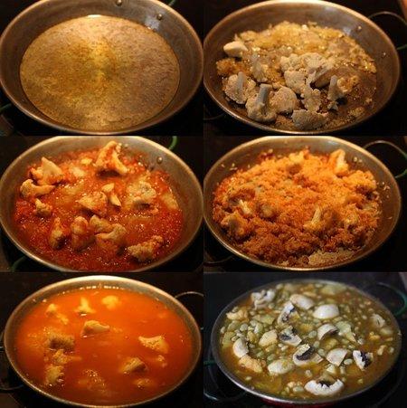 Hacer arroz con verduras