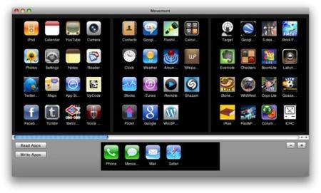 Ordena tus aplicaciones del iPhone o iPod Touch desde tu ordenador con Movement