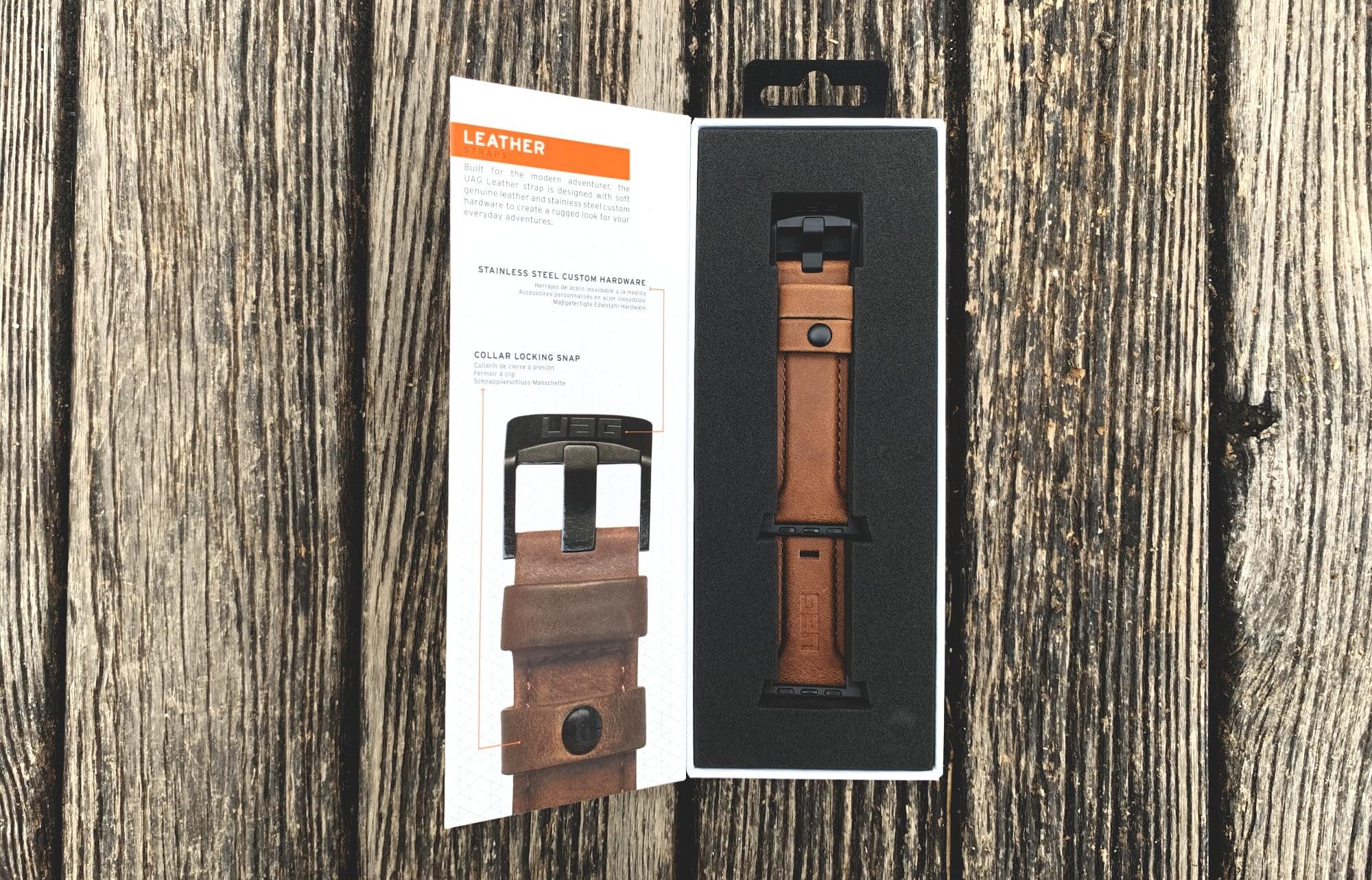 Foto de UAG Leather Strap para Apple Watch (14/18)