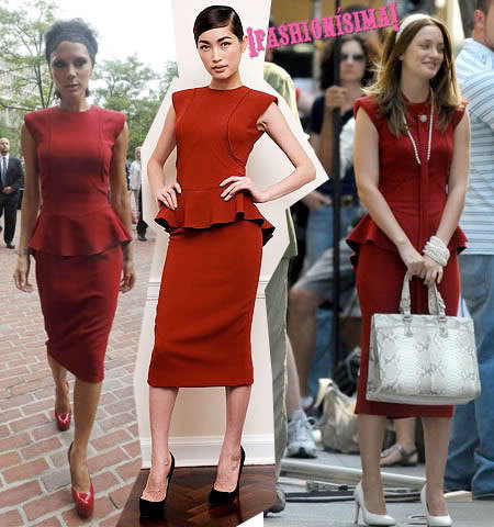 Vestido de Victoria Beckham: ¿Victoria o Leighton?