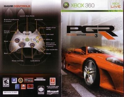 Project Gotham Racing 3: manual escaneado