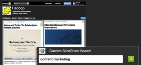 Scoop.it se integra con Slideshare y permite incrustar presentaciones completas