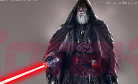 El viejo Obi-Wan Kenobi poseído por el lado Oscuro en, 'StarWars: Battlefront III'