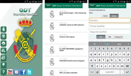 App para Android de la GDT