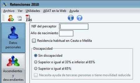 Agencia Tributaria: disponible para descarga el programa de Retenciones 2010