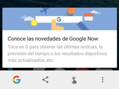 Ya puedes usar Google Now on Tap sin activar las tarjetas Now