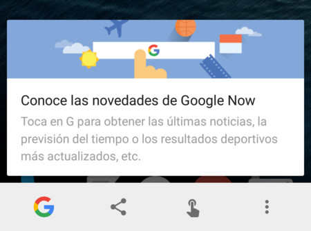 Ya puedes usar Google Now on Tap sin activar las tarjetas Now