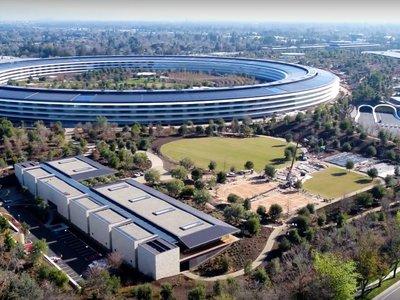 Un nuevo vídeo a vista de drone nos muestra las primeras imágenes del Apple Park en 2018