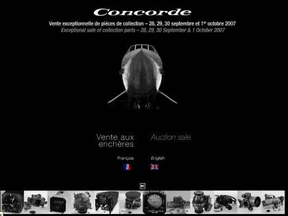 Subasta de piezas del Concorde