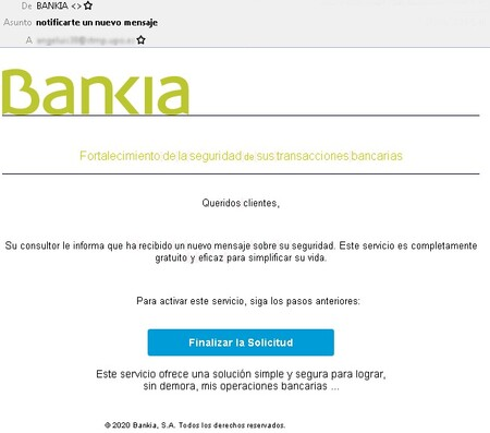 Correo Bankia 28092020