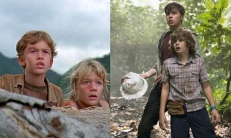 Jurassic World y Jurassic Park, rescate de los niños