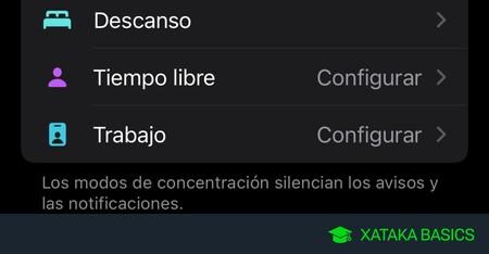 Modos de concentración de iOS: qué son y cómo configurarlos