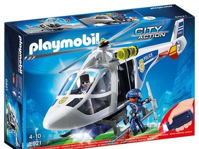 Helicóptero de policía con luces LED de Playmobil a la venta por 25 euros en Amazon