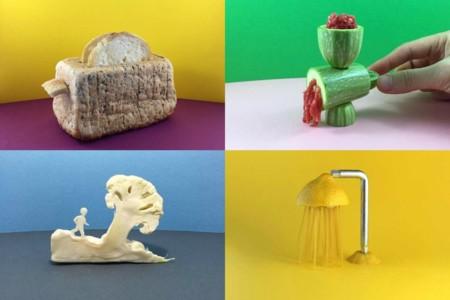 Alimentos que recrean objetos cotidianos