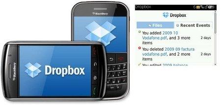 Dropbox llega a BlackBerry