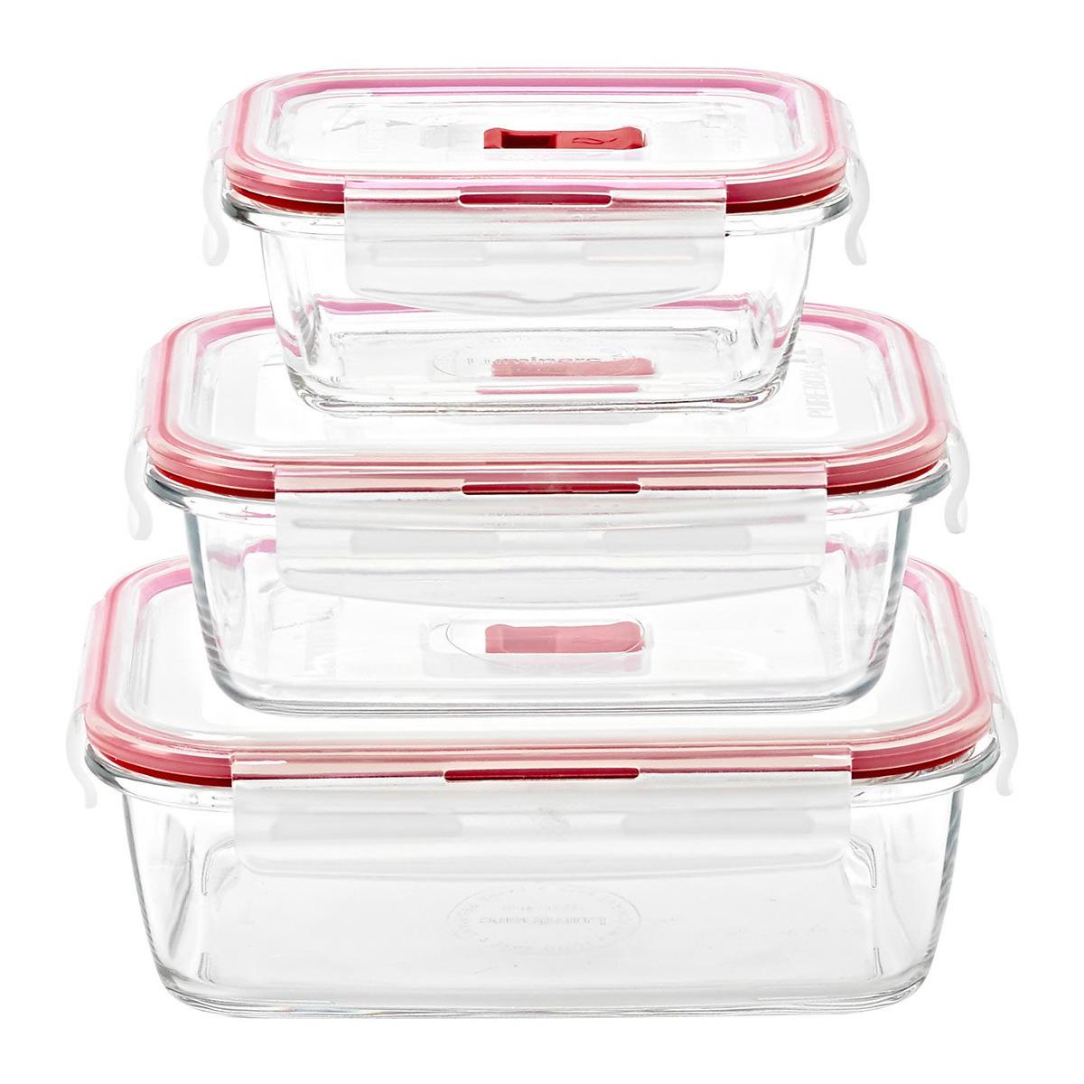 Set de 3 herméticos de vidrio Pure Box de Luminarc