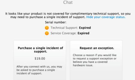 El chat de soporte oficial de Apple pasará a ser de pago para los productos sin garantía