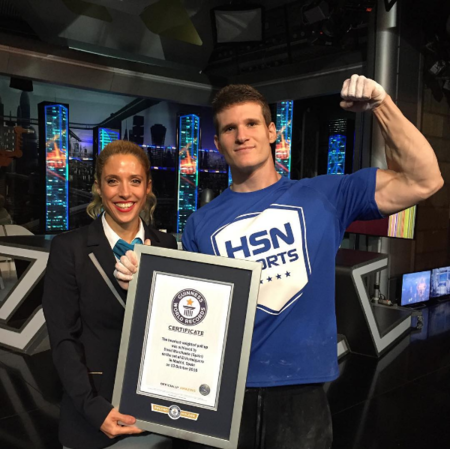 Record Guinness del mundo en dominadas: David Marchante sorprende en El Hormiguero