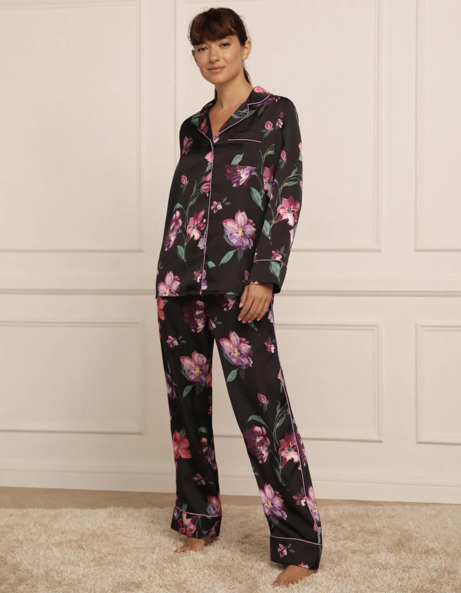 Pijama de mujer largo Tejido Soft con estampado floral