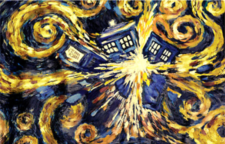 tardis noche estrellada doctor who
