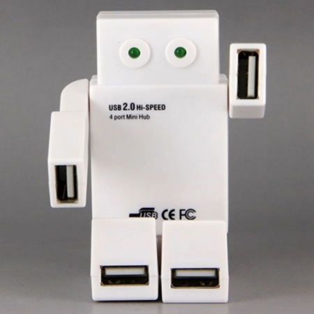 El robot que actúa como hub USB