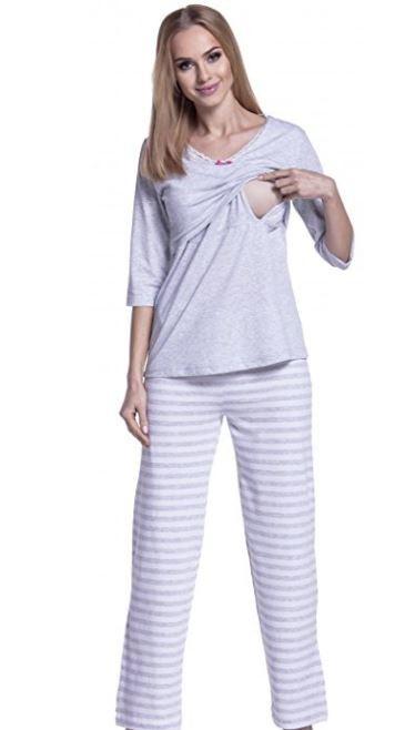 Pijama Gris Rayada