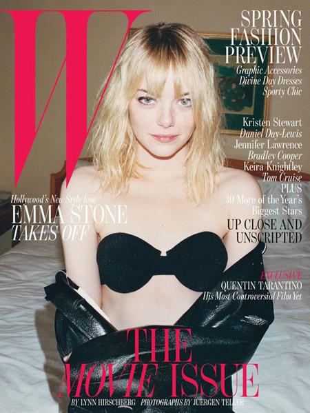 Emma Stone más destartalada que nunca en la portada de 'W magazine'