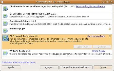 Extensiones OpenOffice