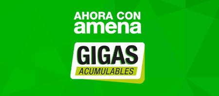 Amena estrena los gigas acumulables y aumenta los datos de sus tarifas: hasta 30 GB por 24,95 euros al mes