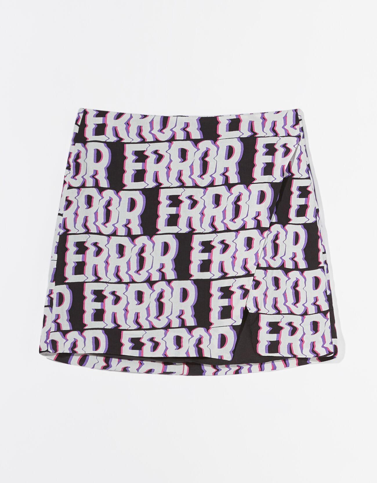 Falda mini print.