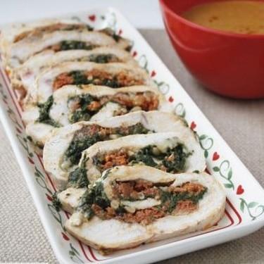 Pechugas de pollo rellenas de sobrasada, queso de Mahón y espinacas: receta de Thermomix