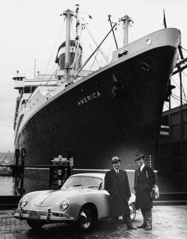 Ferdinand Porsche y Maximilian E. Hoffman