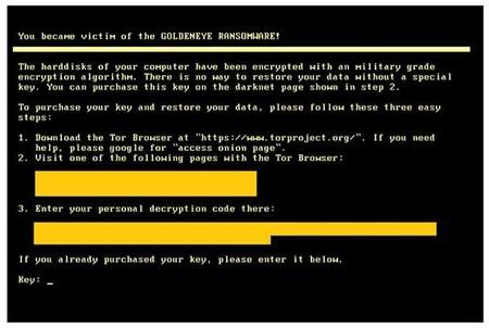 Goldeneye Ransomware Note