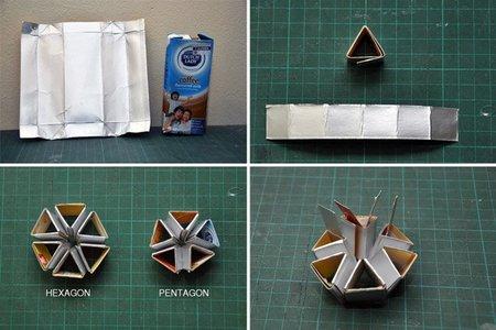 lámpara hecha con bricks - proceso