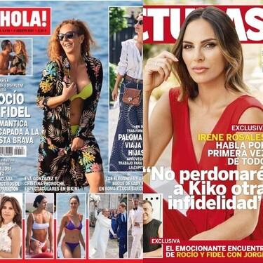 """Rocío Carrasco muy 'brava' en la costa, Irene Rosales hablando """"de todo"""" y la celebración de Olga Moreno: estas son las portadas del miércoles 28 de julio"""