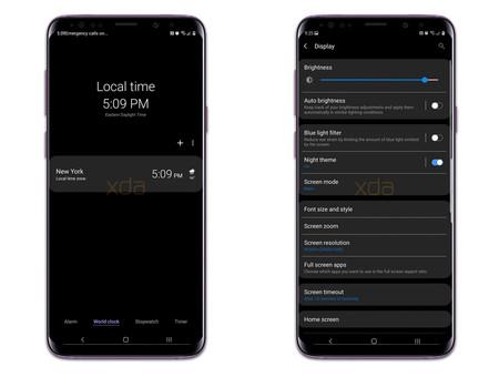 El tema oscuro del Samsung Galaxy S9 con Android Pie se deja ver antes de tiempo