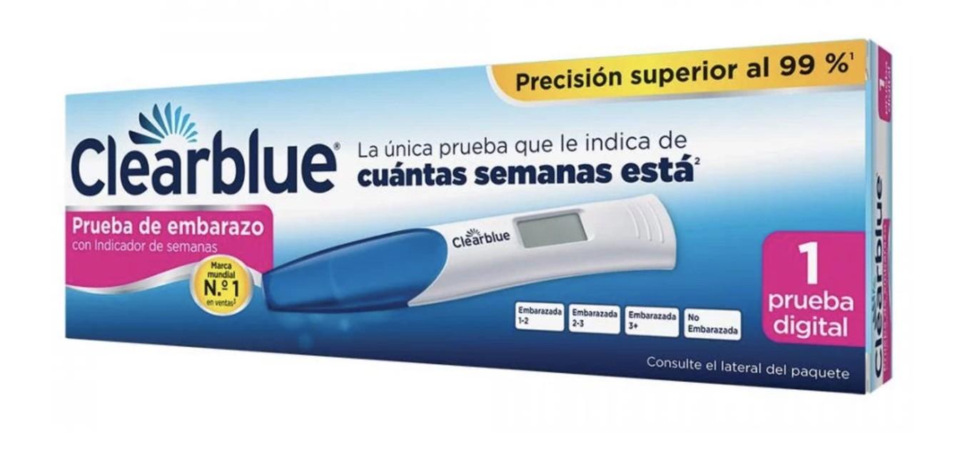 prueba de embarazo positiva clearblue