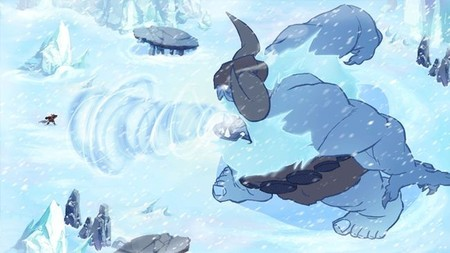 Al loro con Jotun, una mezcla entre Journey y Shadow of the Colossus en 2D