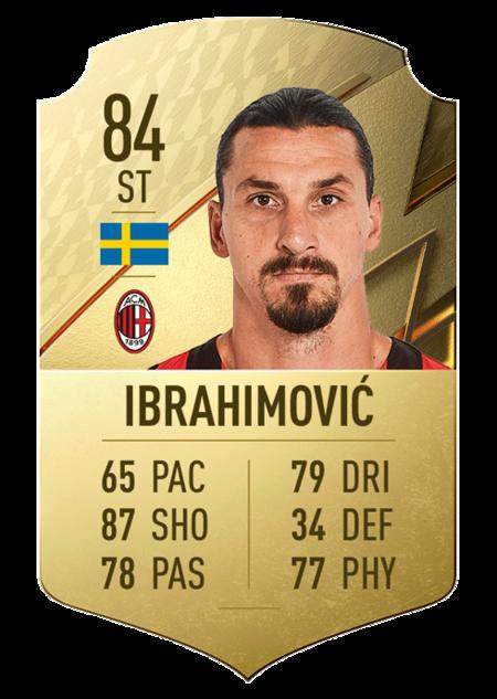 Ibrahimovic fifa 22 mejores jugadores serie a