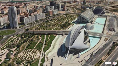Vista Flyover de los Mapas de Apple (Valencia)