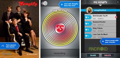 Songify llega a Android convirtiendo tus palabras en música