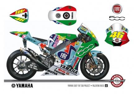 Decoración especial de las Yamaha en Assen