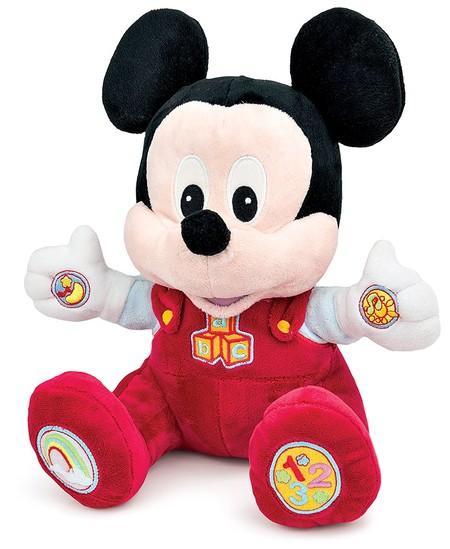Ideal para niños de seis meses o más: peluche educativo de Baby Mickey por 19€ en Amazon