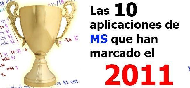 Top 10 aplicaciones Microsoft 2011