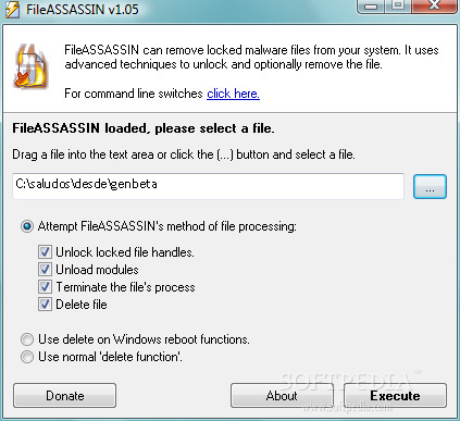 FileAssassin nos desbloquea archivos rebeldes en Windows