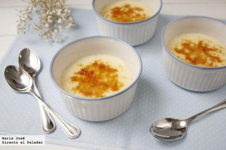 Natillas caramelizadas, receta de Thermomix
