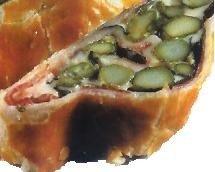 Strudel de jamón con espárragos